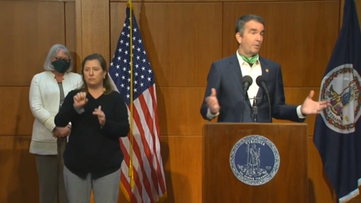 Governor Ralph Northam addressing the public at a May 11 COVID-19 briefing