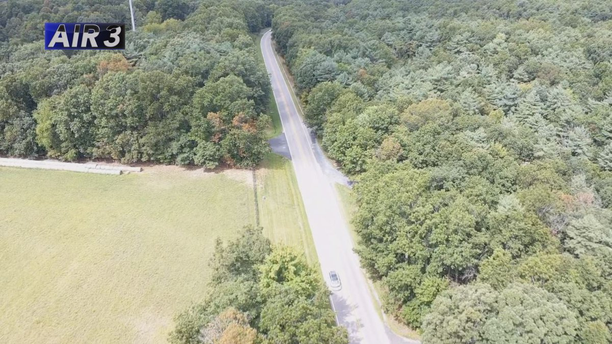 Air3 captures a portion of Route 254 in Augusta County.   Credit: WHSV
