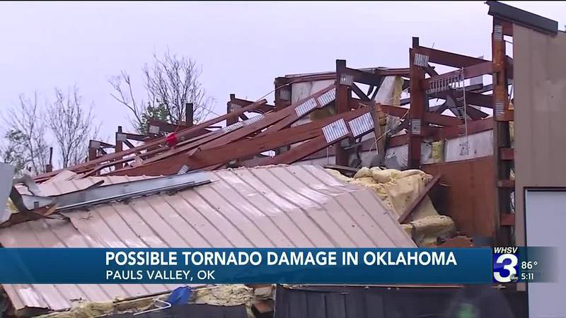 A tornado likely touched down in Oklahoma overnight causing some serious damage.