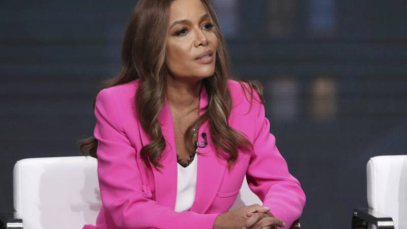 Sunny Hostin speaks in a panel at the Television Critics Association Summer Press Tour on...