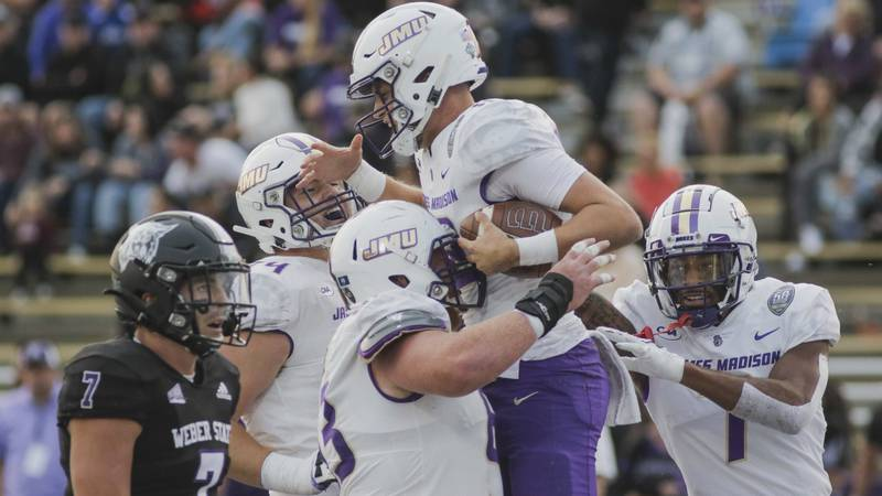 The No. 3 James Madison football team defeated No. 9 Weber State, 37-24, at Stewart Stadium in...