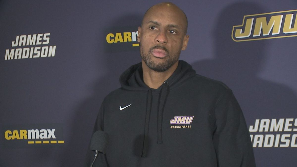 James Madison men's basketball head coach Louis Rowe met with the media Monday afternoon.