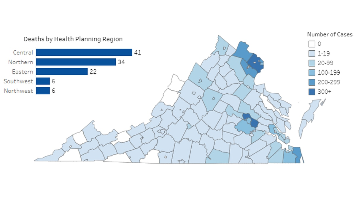 Graphic provided by Virginia Department of Health