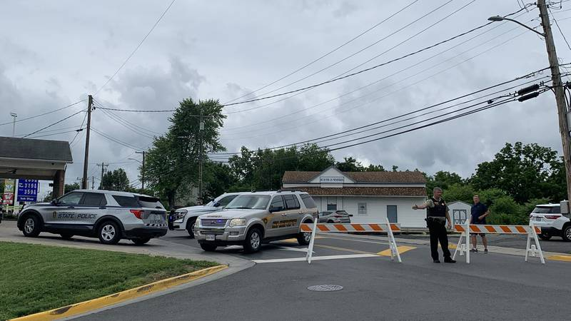 Heavy police presence in Luray following hostage situation.