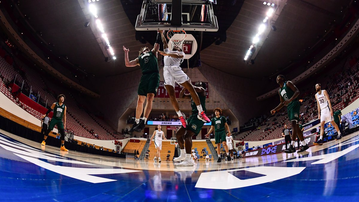 BLOOMINGTON, IN - MARCH 20: The Ohio Bobcats take on the Virginia Cavaliers during the first...