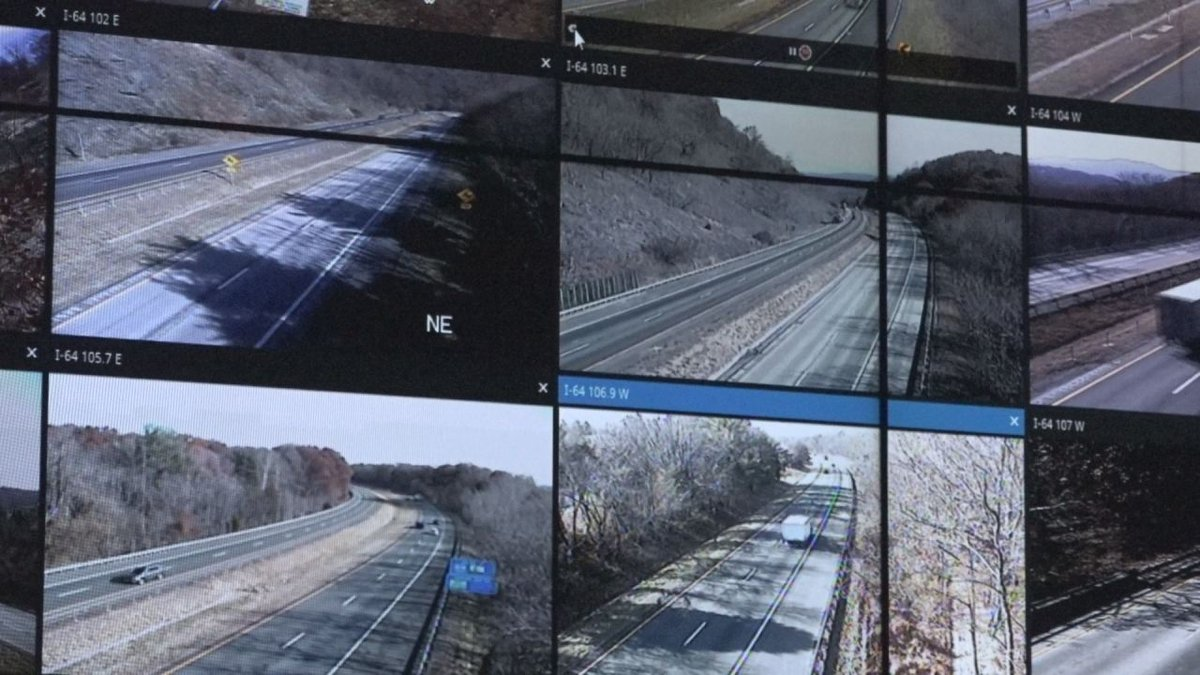 Camera's in the VDOT traffic operations center monitor all along the valley, including on Afton...