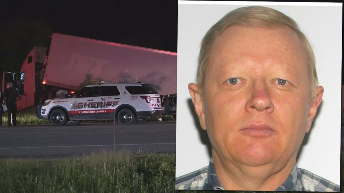 Livingston County Sheriff's deputies were in pursuit of a tractor-trailer Wednesday night after...