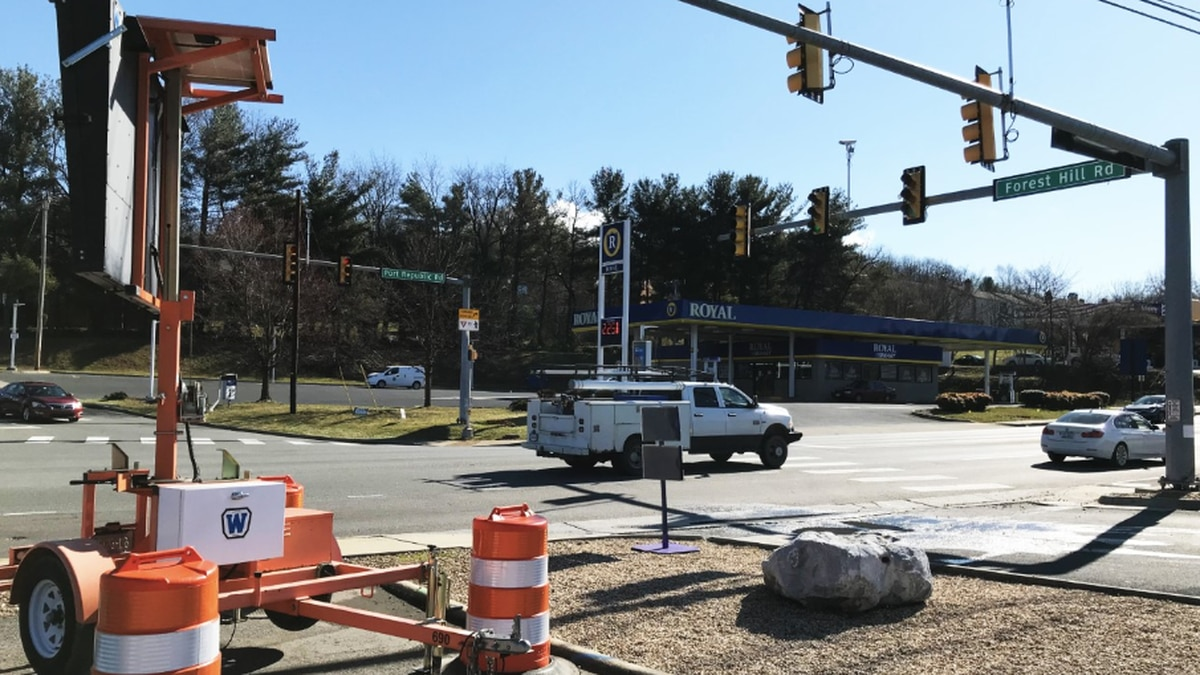 The Interstate 81 North off ramp at Port Republic Road will be realigned with Forest Hill Road (above) this summer. Preliminary work will require the off ramp to be closed from March 9 to 11. | Photo: City of Harrisonburg
