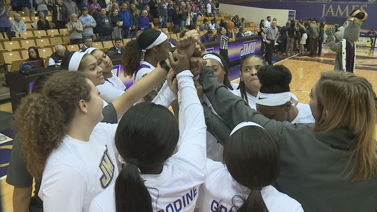 The James Madison women's basketball team will host the 2021 CAA Championship at the Atlantic Union Bank Center.