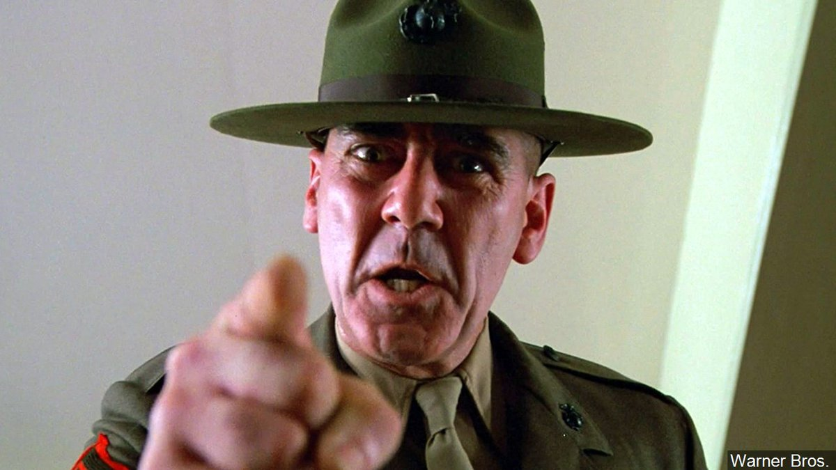 R. Lee Ermey, American actor and voice actor known for playing Gunnery Sergeant Hartman in...