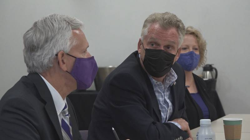 McAuliffe listened to students and staff at a roundtable on what last school year was like.