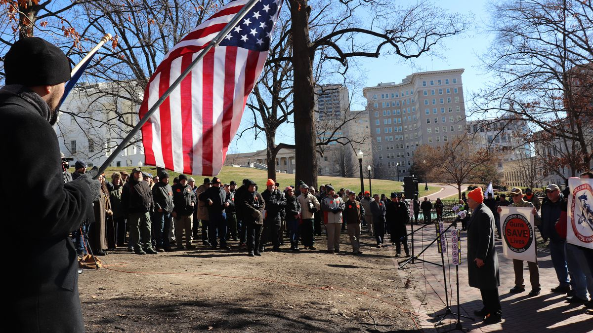 Gun rights activists rally at a 'Guns Save Lives' rally in Richmond, Va. | Photo: Capital News...