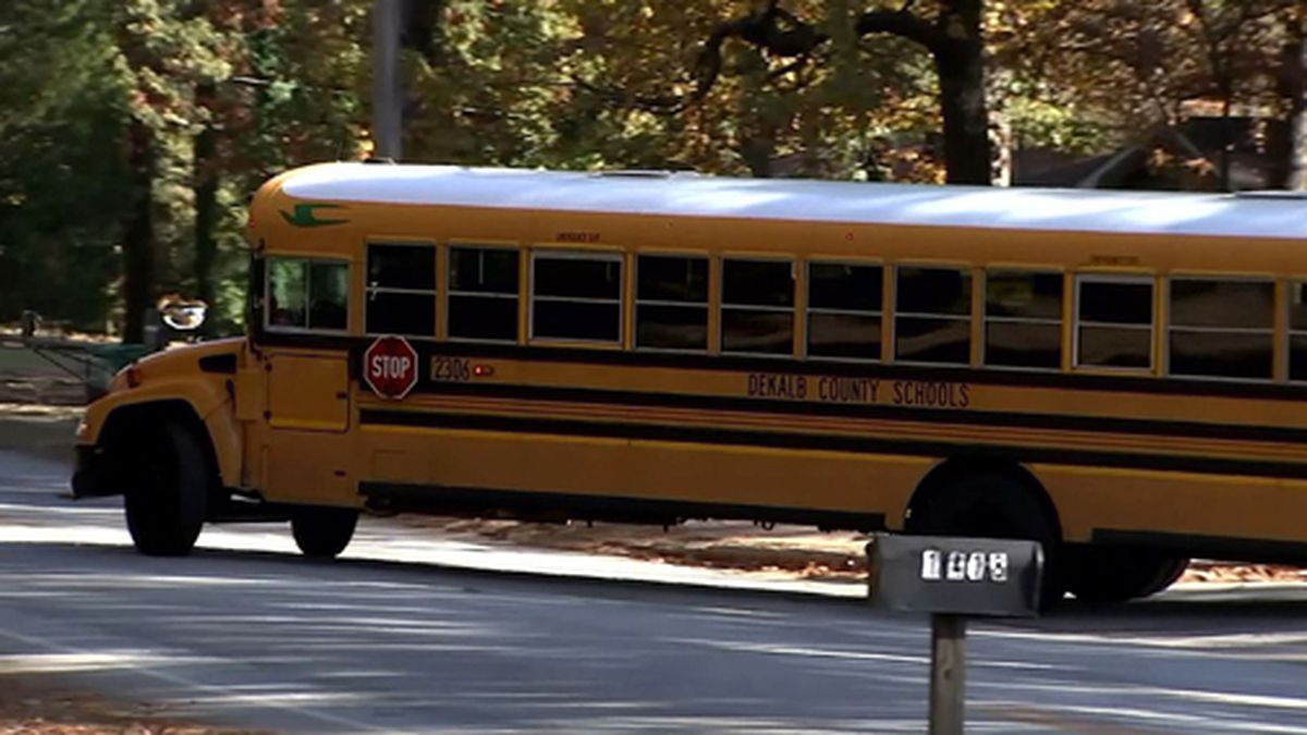 Police in Georgia said a group of teens attacked elementary students on a school bus. (Source: WSB/Cox/CNN)