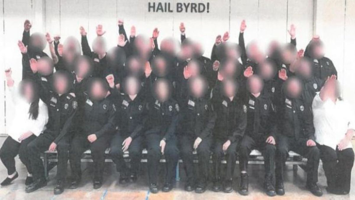 "An investigation is underway after a ""completely inappropriate"" photo was found by members of the Department of Military Affairs and Public Safety. (DMAPS/DCR)"