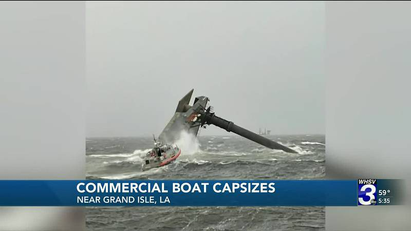 Strong winds and high waves caused the boat to capsize.