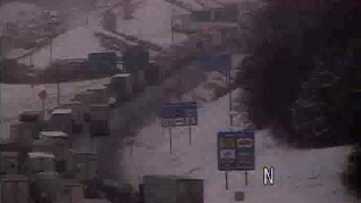 A VDOT traffic camera shows the backup from a crash at MM 220 of Interstate 81 at 12:22 p.m. on...