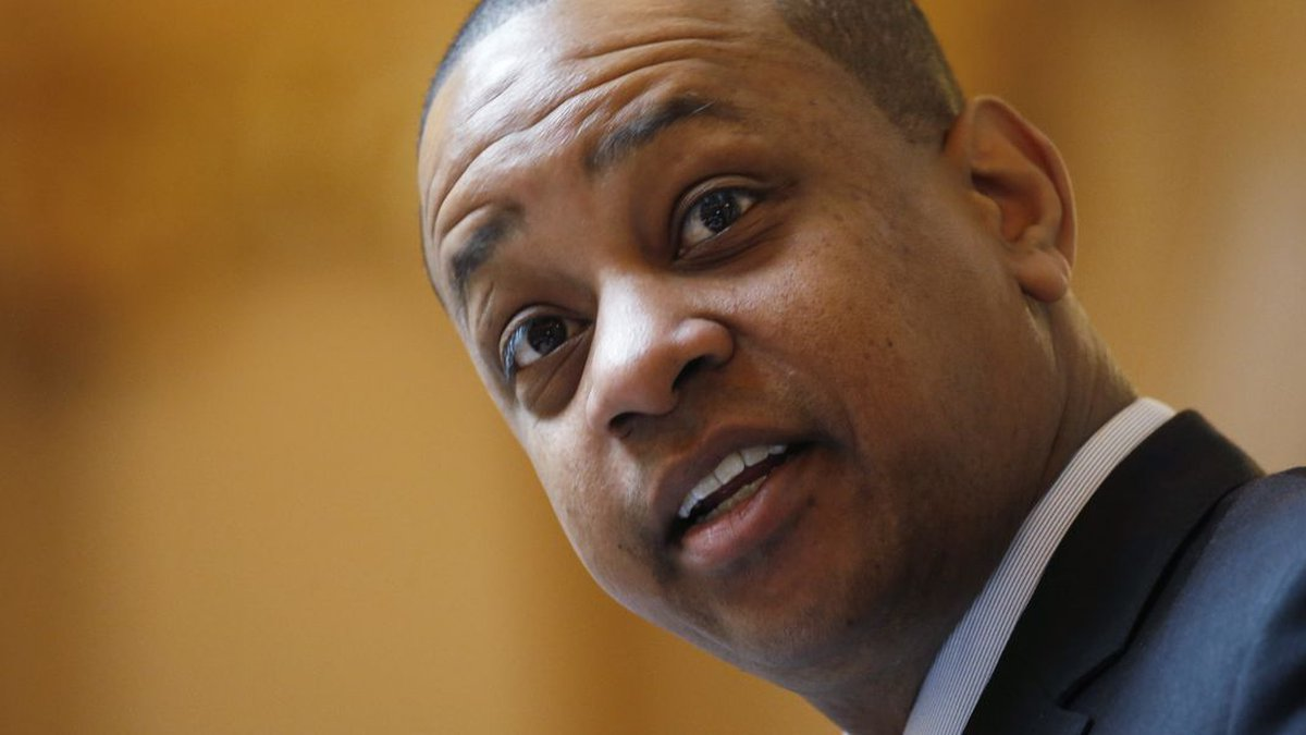 FILE - In this March 5, 2020, file photo, Virginia Lt. Gov. Justin Fairfax directs the Senate...
