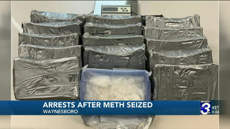 Arrests made after large amounts of meth seized