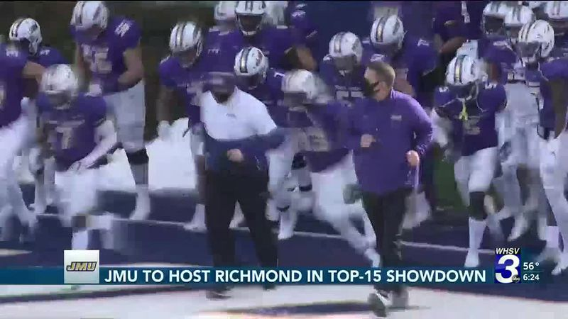 JMU preparing to host Richmond in top-15 showdown