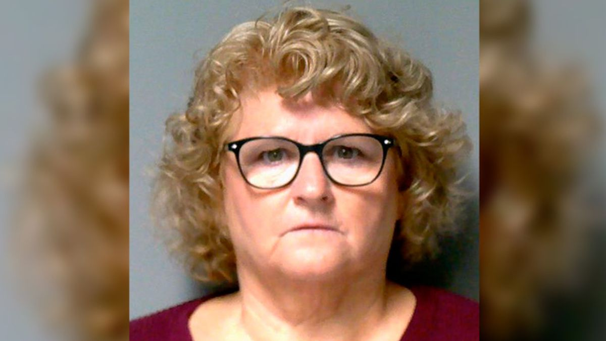 This photo provided by the Lansing Police Department shows former Michigan State University women's gymnastics coach Kathie Klages, who has been charged with lying to investigators in the Larry Nassar sexual-assault scandal.