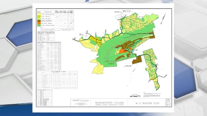 Massanutten Rezoning Project Map.
