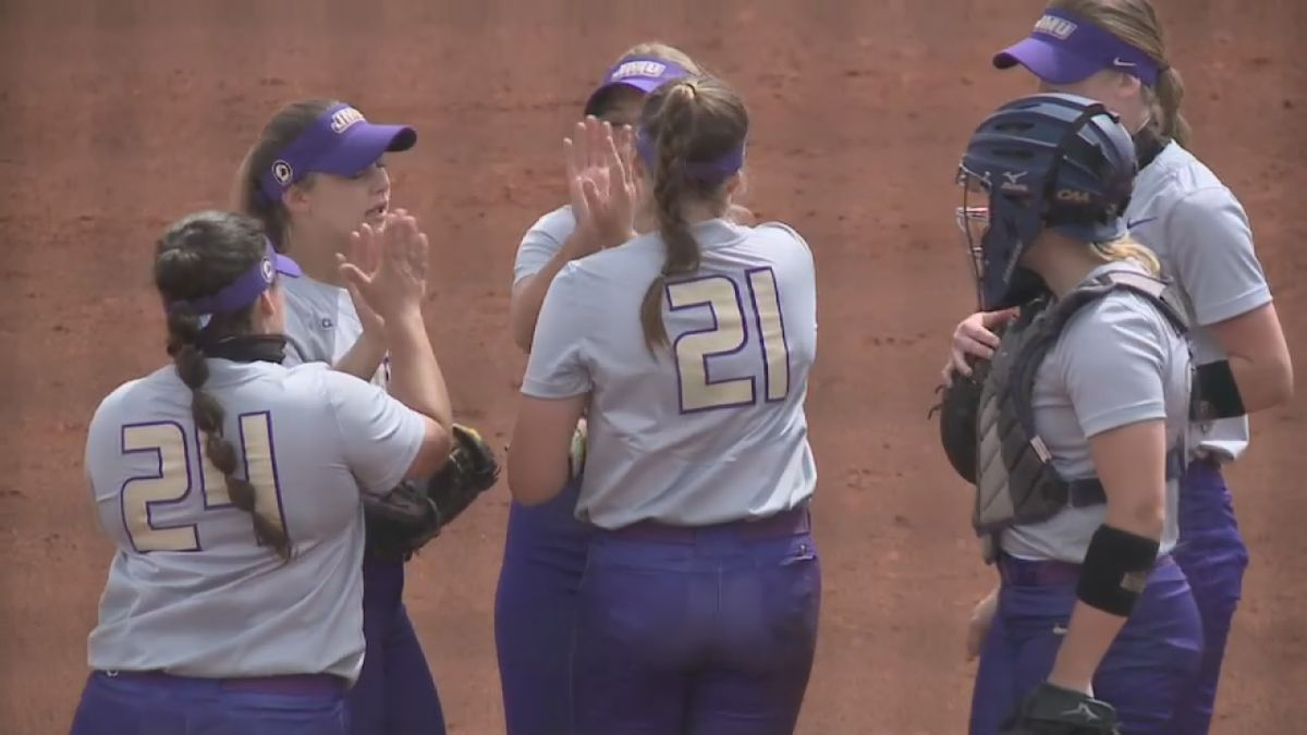The James Madison softball team lost to No. 8 seed Missouri, 7-1, Saturday night in game two of...