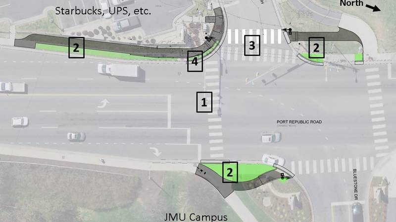 Port Republic Rd and Bluestone Drive intersection changes