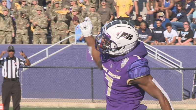 No. 3 James Madison dominated Maine, 55-7, in the Dukes' CAA opener Saturday evening at...