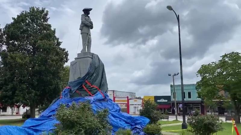 A Confederate monument in Tuskegee is now behind police tape after an attempt was made...