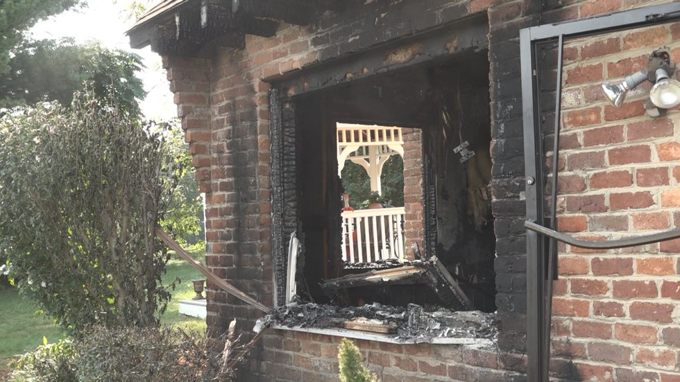 A fire at Ash Hair Design caused significant structure damage.