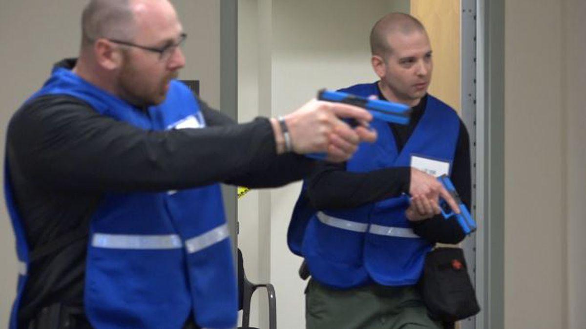 Responders practice invading active shooter scene