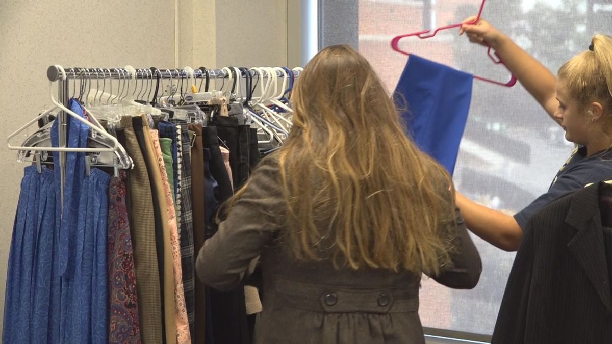 Students were able to leave with an entire outfit for their future endeavors.