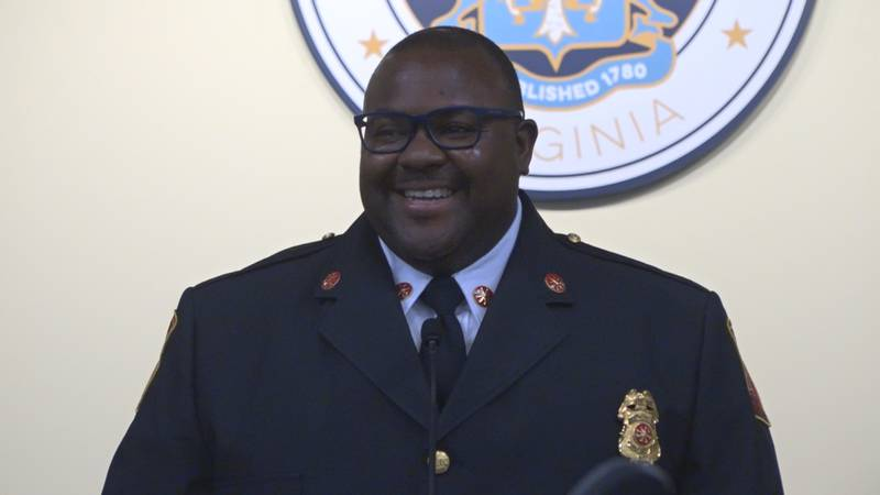 Marques Bush swearing in as the Deputy Fire Chief of Support Services