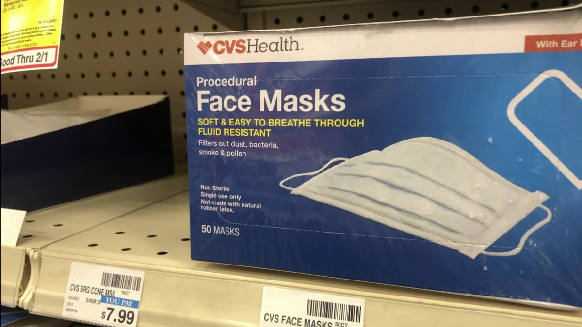 Many drugstores are sold out of masks or have very little left in stock.