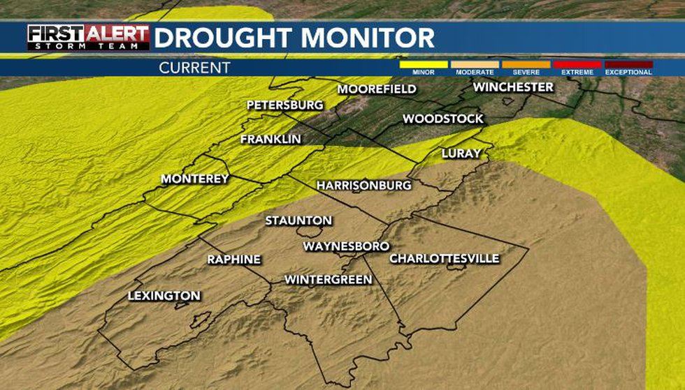 A good portion of the area still under a moderate drought at this time