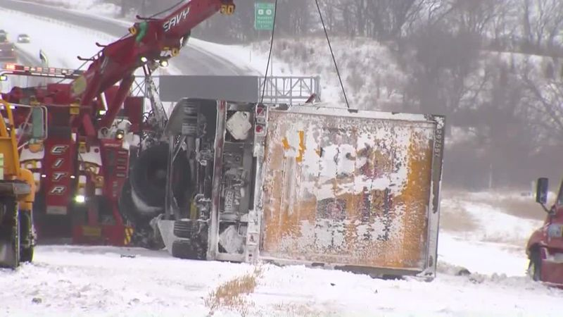A 40-car pileup occurred in Newton, Iowa.
