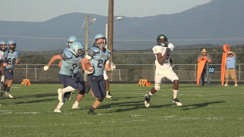 The Page County football team evened its record with a victory Tuesday night.