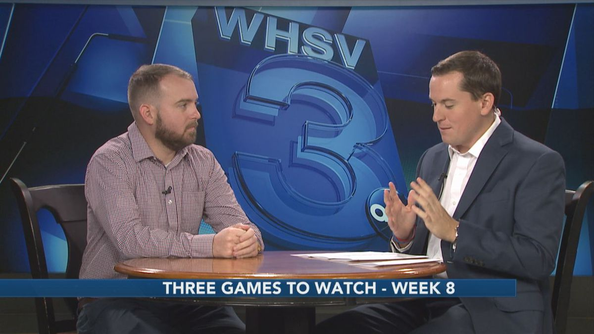 WHSV Sports Director TJ Eck is joined by Cody Elliott, prep sports writer for the Daily News-Record, to discuss the top three games to watch in week eight of the high school football season.
