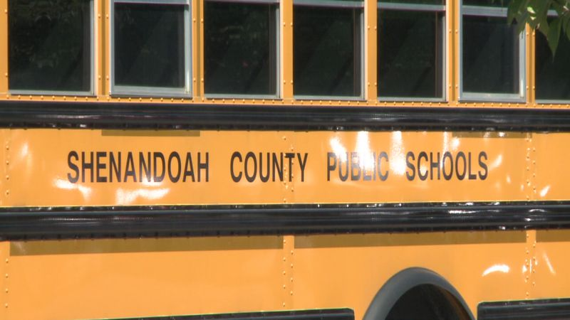 WHSV file image of a Shenandoah County Public Schools bus