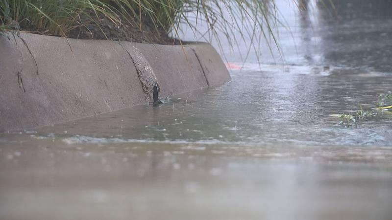 File photo of rain