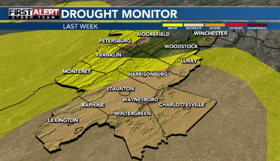After a dry spring, the area was put under a moderate drought
