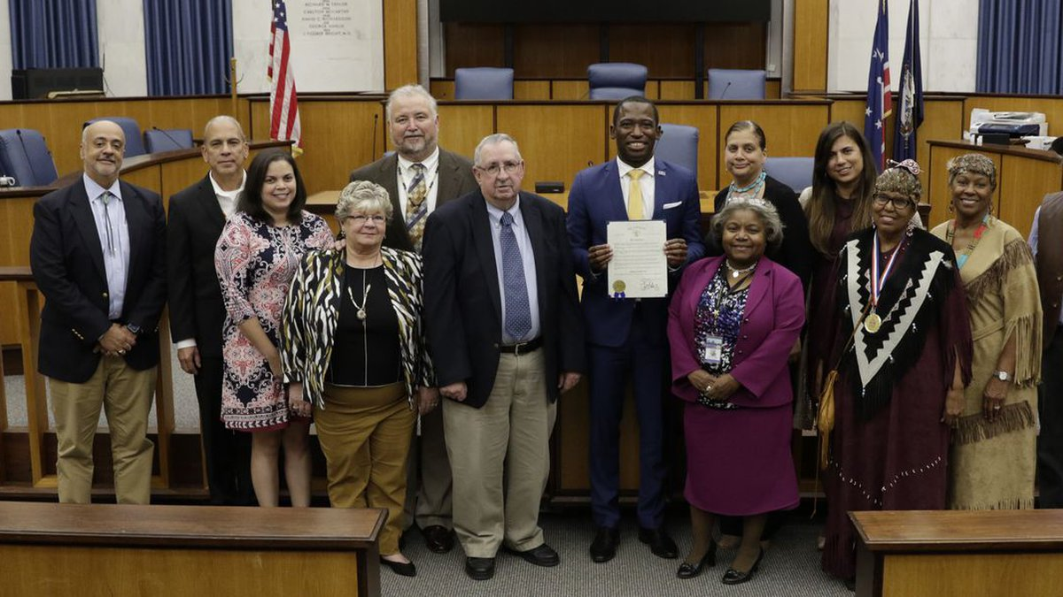 Levar Stoney announced Indigenous Peoples' Day during an Oct. 10 gathering with...