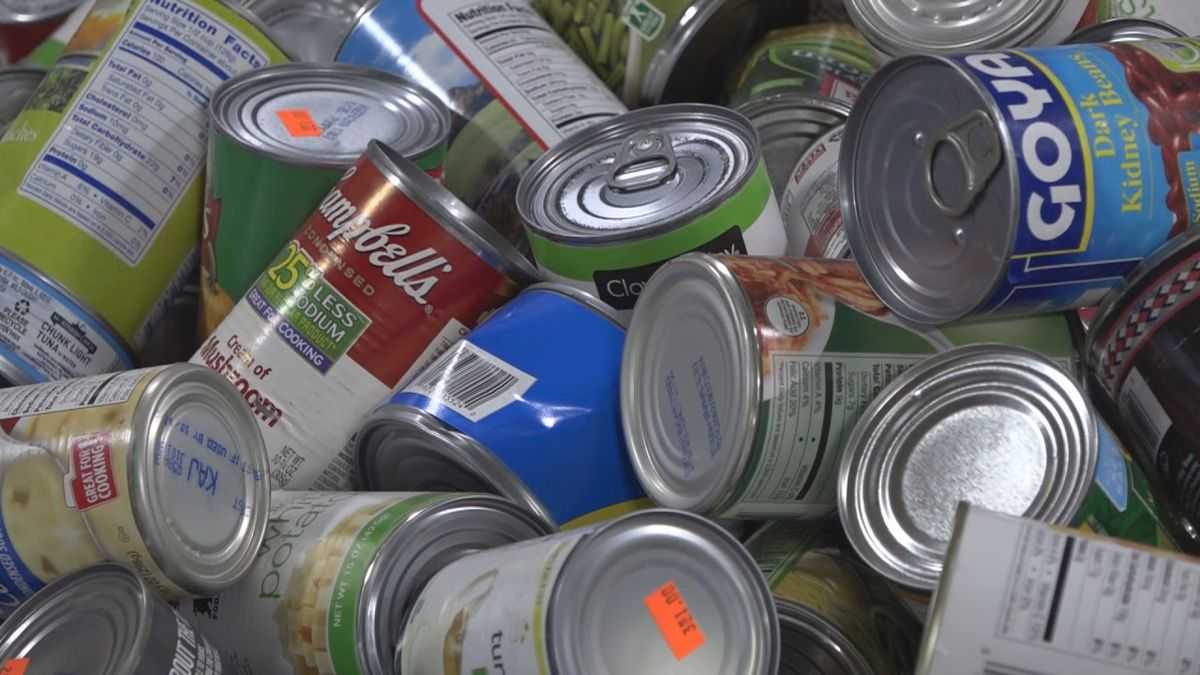 Cans in donation bins for the Blue Ridge Area Food Bank | Photo: WHSV
