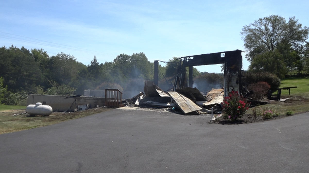 Detached garage building on Spring Hill Rd. destroyed after fire on August 30.