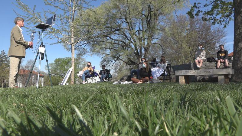 JMU professor teaches semester outside