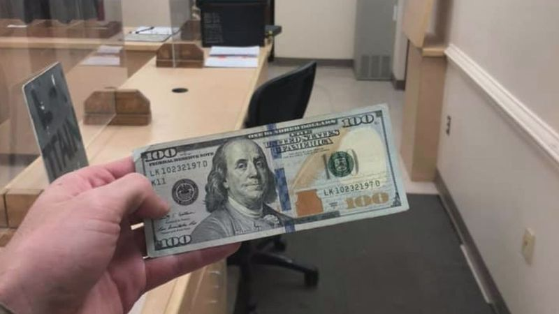 VMI Cadet Bradley Biller posted this picture of the $100 bill another cadet turned into the...