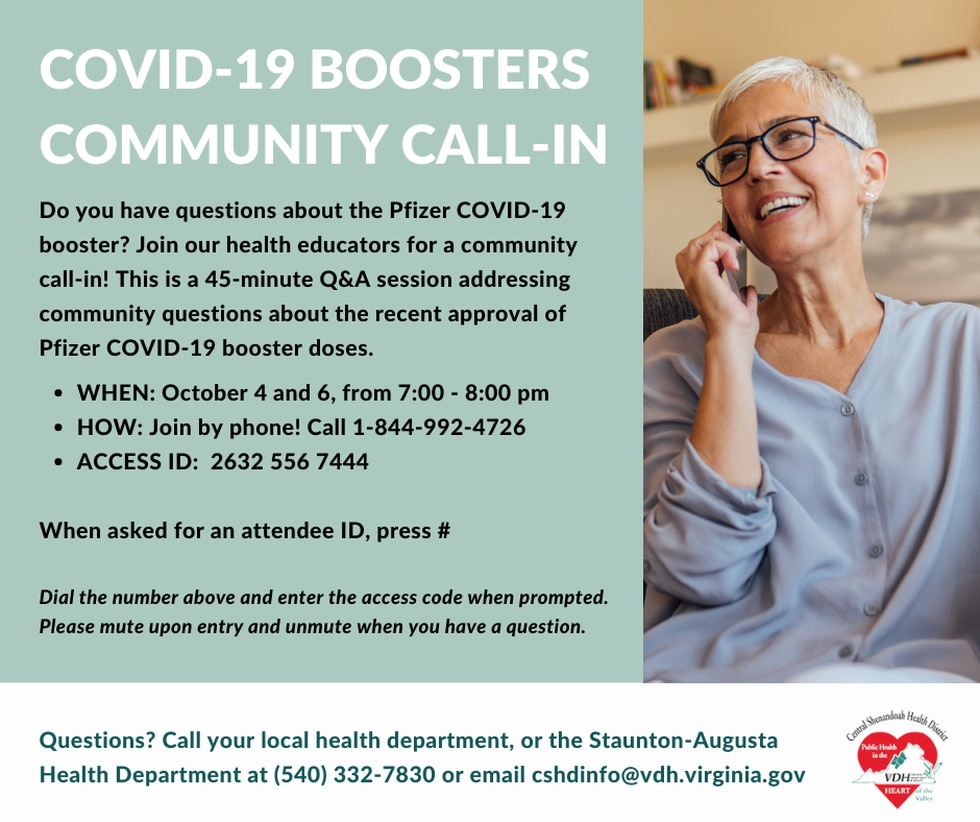 CSHD COVID-19 Booster Community Call-In Information