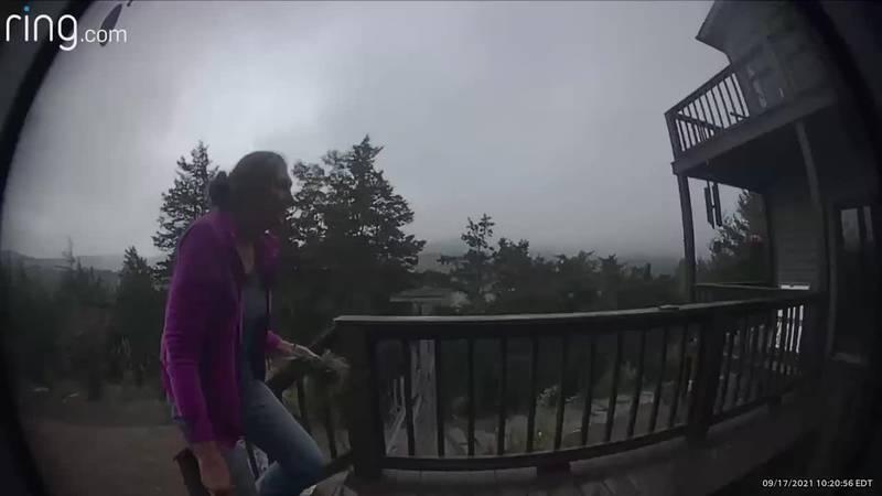 Meteor flash captured on video