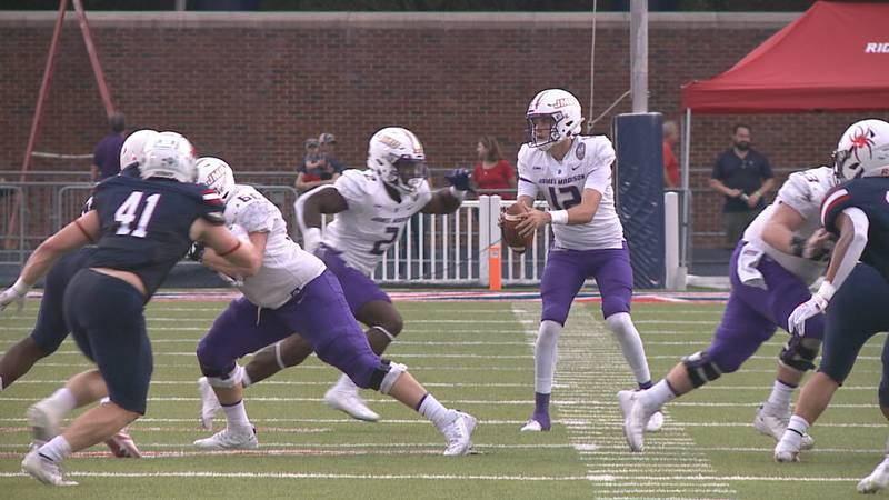 The James Madison football team is hoping to see increased rushing totals after struggling to...