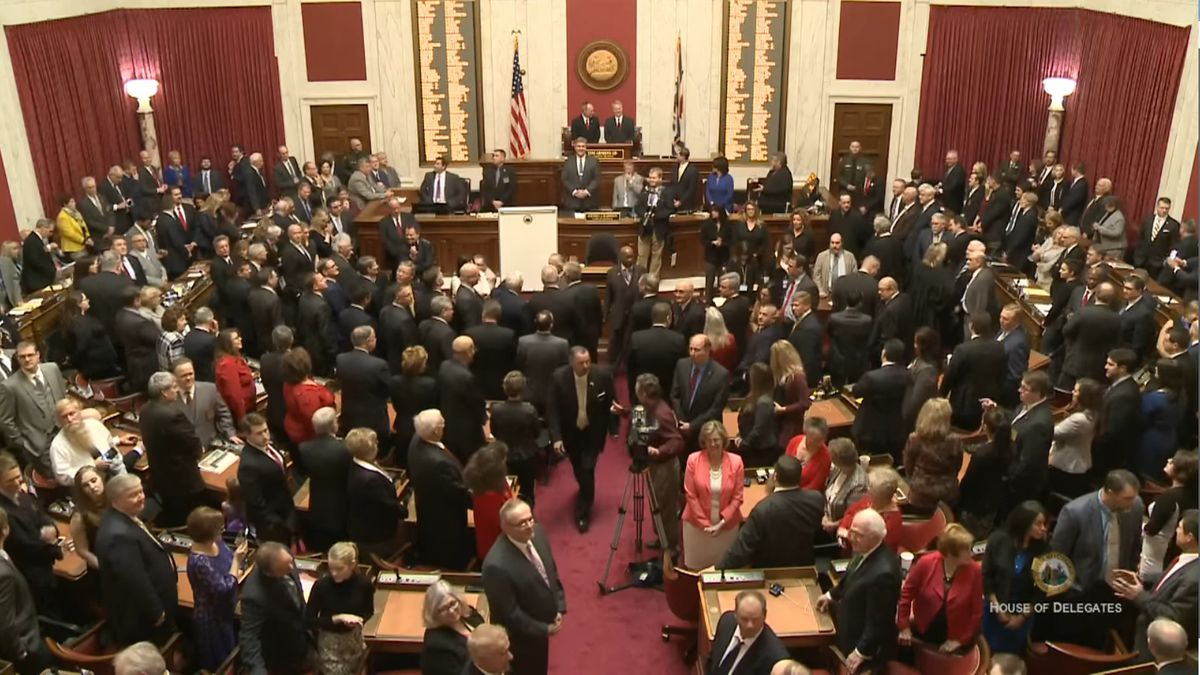 File image of West Virginia House of Delegates during Gov. Justice's 2017 State of the State address